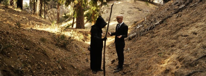 """Dance-music icon Moby has a deep chat with Death in the documentary """"Moby Doc."""""""