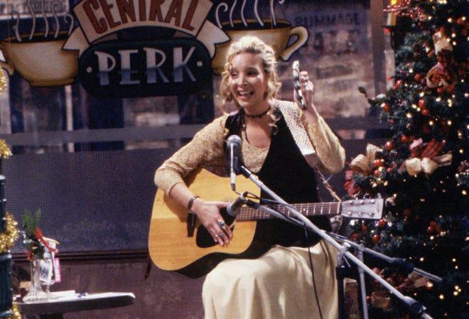 Lisa Kudrow's Phoebe Buffay sometimes performed at the gang's neighborhood coffee shop, Central Perk.