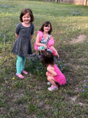 Jennifer Macklom's daughters — from left, Naomi, 5, Miriam, 7, and Ruth, 2 — will all be part of the Pfizer COVID-19 vaccine trial for children being done by Austin Regional Clinic.