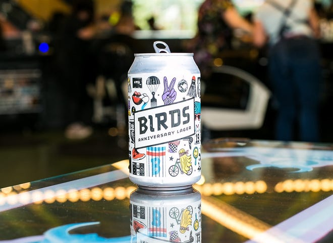 Birds Barbershop partnered with Independence Brewing to create this anniversary lager that's only available for Birds customers.