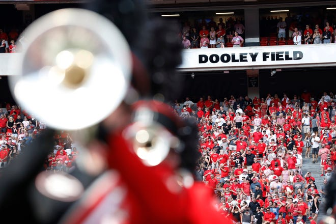 Vince Dooley field at Sanford Stadium before the start of an NCAA football game between Georgia and in Athens, Ga., on Saturday, Sept. 7, 2019. [Photo/Joshua L. Jones, Athens Banner-Herald]