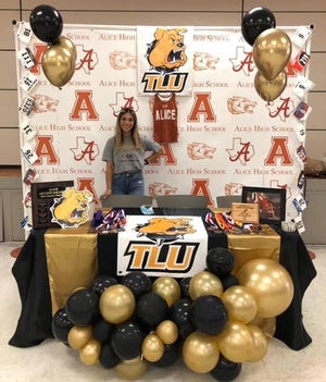 Alice senior Jacqlyn Villarreal will run cross country and compete in track at Texas Lutheran University.