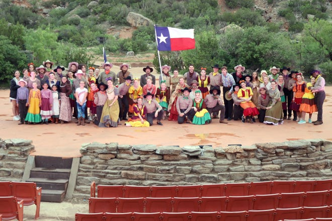 The cast of the TEXAS Outdoor Musical prepares for the 2021 season with rehearsals at the Pioneer Amphitheater in Palo Duro Canyon. The show will run six nights a week through August 14th.