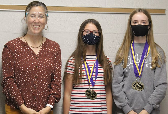 Lake Center Christian students recently won awards in a national math competition.