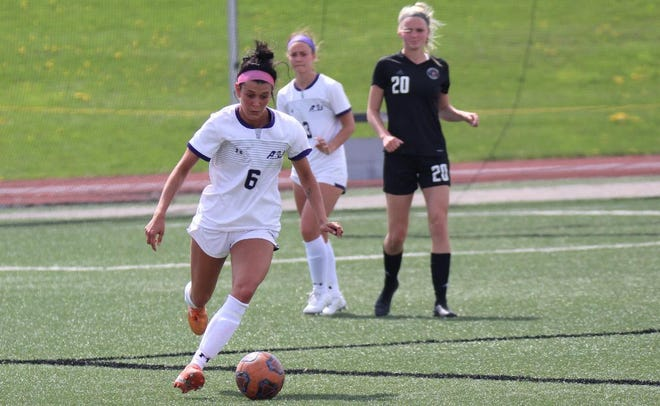 Ashland University's Rylie Howman dribbles the ball during a game last season.