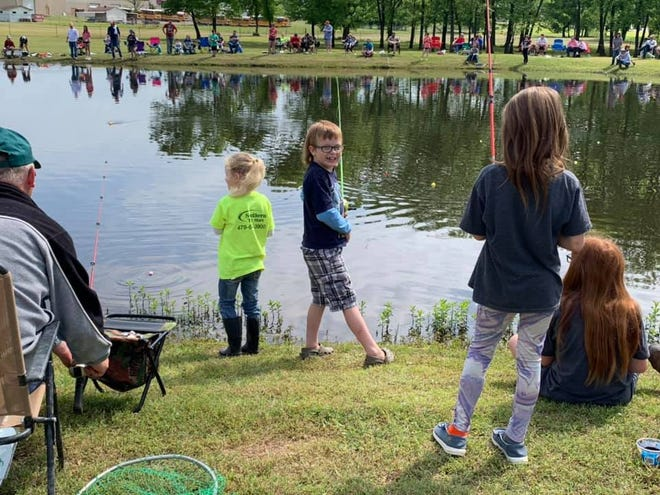 The beautiful weather provided a day of fun for many Charleston families who participated in the annual Kids Fishing Derby.