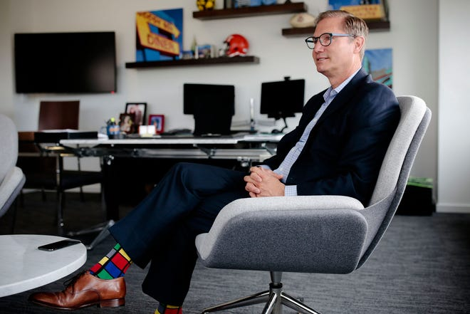 """Alex Fischer, president and CEO of the Columbus Partnership: """"If you had asked me a year ago, I would have been pretty darned scared about what the year ahead would look like. To sit here, to have a pipeline and a level of activity as busy as I've ever seen it suggests that the growth agenda is going to continue."""""""