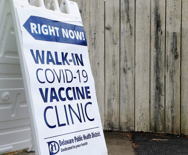 The Delaware Public Health District hosted a COVID vaccine clinic on Wednesday at People In Need, Inc., on May 26, 2021.  Delaware County leads Ohio with a COVID-19 vaccination rate with almost 60% of its residents having started or completed the COVID-19 vaccination process.