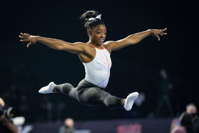 Olympic gold-medalist Simone Biles will headline the Athleta Presents Gold Over America Tour at Nationwide Arena on Oct. 19.