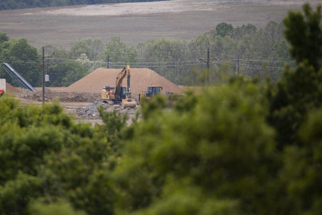 An excavator at the former Portsmouth Gaseous Diffusion Plant in Piketon. Congressman Tim Ryan, D-Howland, has introduced a bill that would provide resources and protections to the community as the former uranium enrichment plant is torn down.