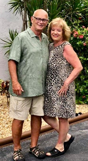 Kim Davidson is pictured with her husband, Dave.