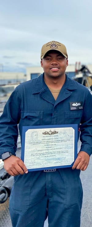 Eustis High alum Kameron Clinton has been racking up the promotions and qualifications during his first hitch in the Navy.