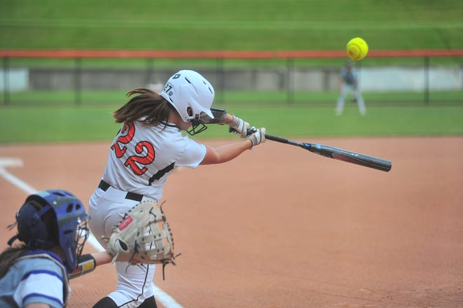Audrey Miller hit a home run for Marlington in Wednesday's 10-7 loss to Triway in the Division II regional semifinal.