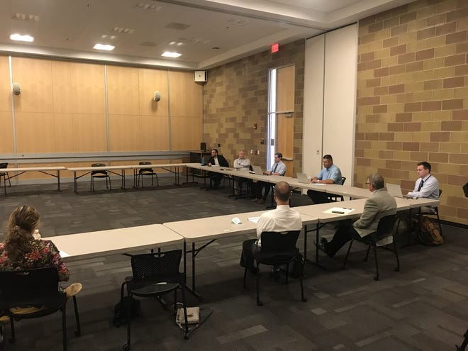 Superintendents from area school districts met with Ohio Auditor Keith Faber at the University of Akron Wayne College Thursday to discuss the effectiveness of the College Credit Plus program. The discussion is one of many the Auditor's Office is hoping to have with schools across the state.