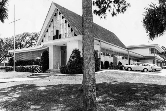 Ormond Beach Union Church as it looked in 1977. It had opened its doors in 1961.