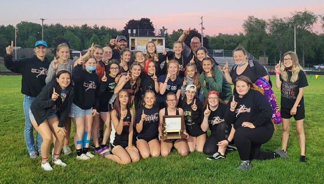 The Quincy Lady Orioles officially claimed the Big 8 conference championship with their win at Wednesday's Big 8 Conference Track and Field Championship at Concord
