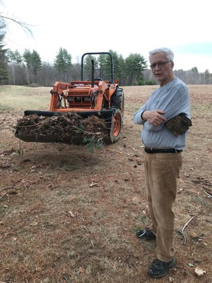 Hackmatack Playhouse owner Michael Guptill prepares his Berwick farmland for the summer season, when the summerstock stage will once again offer entertainment.