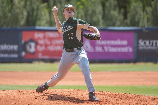 Tyler Santana signed a free-agent contract with the Chicago Cubs after leading the JU Dolphins to the ASUN title this season.