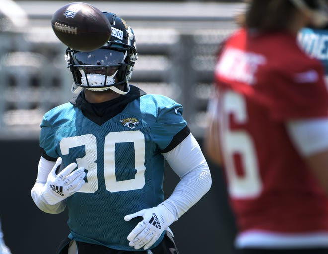 Jaguars running back James Robinson has been lauded by coach Urban Meyer for his work ethic in the off-season and the first sessions of OTAs.