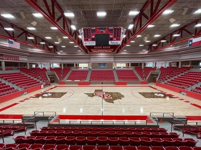 Some four months after experiencing major water damage, a new look at Tiger Arena has been installed. Glen Rose ISD was going to repaint the floor this year, however, the water damage forced a complete replacement. The district's insurance company covered the $140,000 bill.