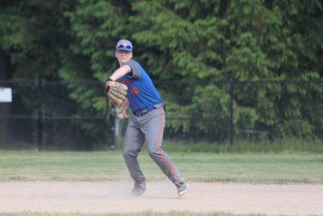 Saugatuck senior Joey Antel makes a play at shortstop