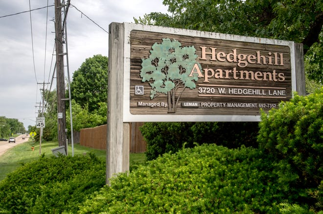 Hedgehill Apartments was the scene of a fatal shooting late Wednesday, May 26, 2021 in the 3600 block of Hedgehill Lane in northwest Peoria.