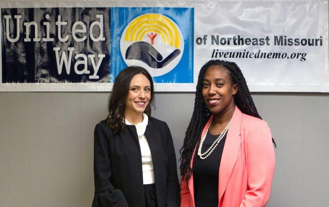 Chade Shorten, left, and Stephanie McGrew, right, are serving as the campaign chair and assistant campaign chair for the United Way of Northeast Missouri's fundraising drive.