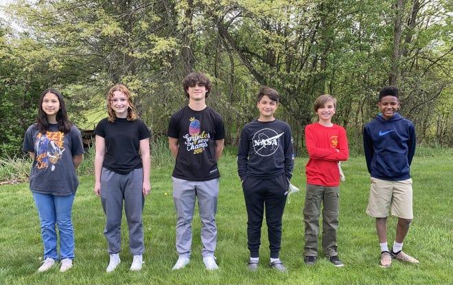 From left,  Josie Pajemola, 15, Elisa Unangst, 15, AJ Taneja, 15, Sam Taneja, 13, Brighton Stoddard-Dare 13 and Sam Lengacher 12 , participated in a clinical trial for the COVID-19 vaccine.