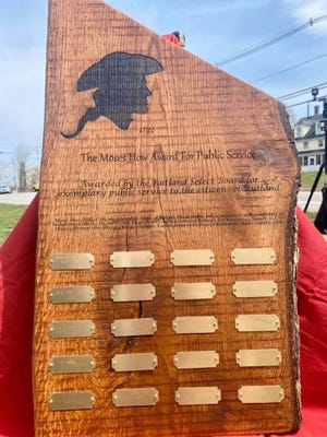 The town of Rutland added the names of Police Officer Matthew Fenuccio and his K9, Cooney, as well as the late Detective John Songy, to the Moses How Award for Public Service plaque in late April.