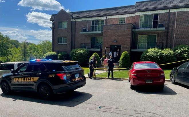 Marlborough Police outside 47 Briarwood Lane following a shooting on Thursday morning, May 27, 2021.