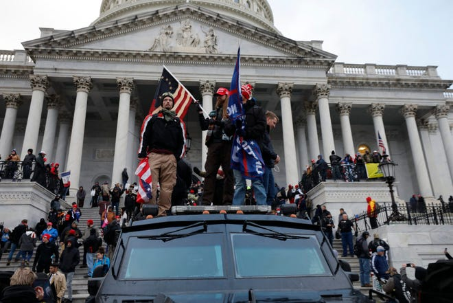 Supporters of President Donald Trump riot at the U.S. Capitol in Washington, D.C., on Jan. 6, 2021. The U.S. Senate fell six votes short of forming a bipartisan commission to probe the insurrection.