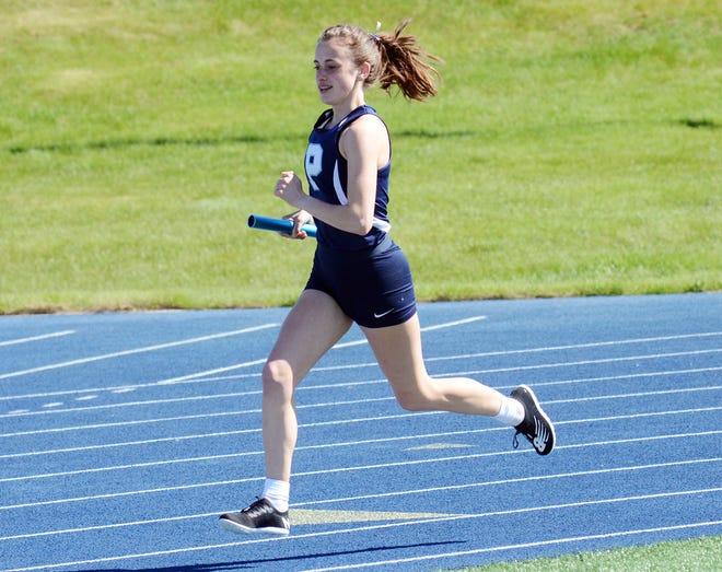 Petoskey's Caroline Farley was part of the BNC winning 3200 meter relay team for the Northmen.