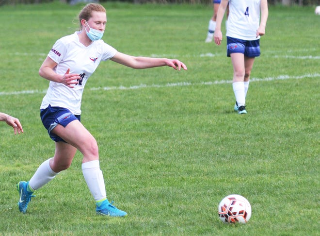 Boyne City sophomore Reagan Woodall drove in a pair of goals and added an assist to help the Ramblers advance in the postseason.