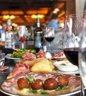 At Elisabetta's, an appetizer spread.