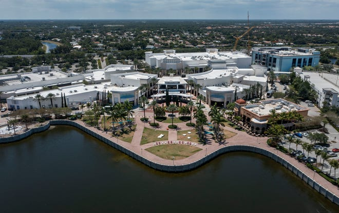 Downtown Palm Beach Gardens is being renovated on May 27, 2021 in Palm Beach Gardens, Florida.