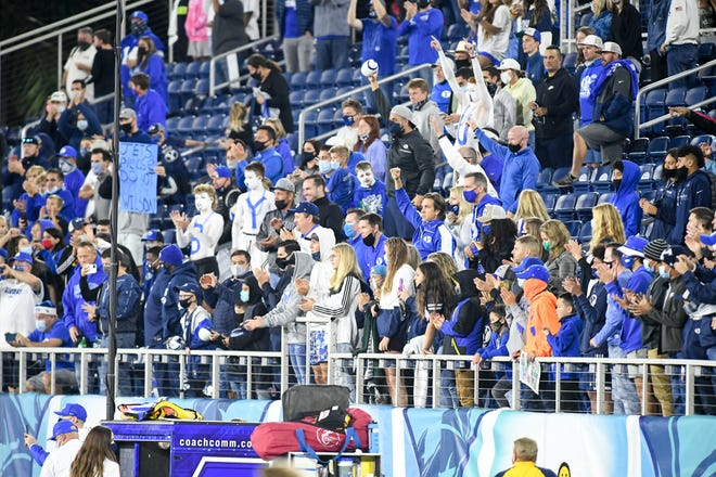 The fans were socially distanced and masked during last year's Boca Bowl at FAU Stadium.