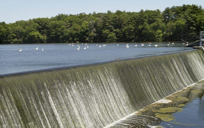 The Turner Reservoir dam in the Rumford neighborhood of East Providence. East Providence officials point to areas such as Rumford that border the Blackstone Valley as one reason for affiliating with the northern Rhode Island region.