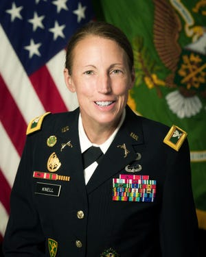 Col. Niave Knell, 51st commandant of the U.S. Army Military Police School.