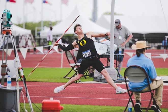Dalton Rasmussen qualified for the NCAA championship meet Wednesday afternoon during the NCAA West Preliminary meet in College Station, Texas.