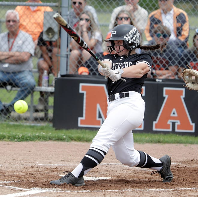 Maddie Johnston — hitting a first-inning single against Hoover in a Division I regional semifinal game at Massillon — delivered the game's big hit Thursday when she later hit a grand slam.