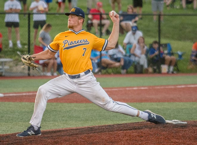 Pioneer senior Tommy O'Connor got the call to start on the mound for his team's sectional game against Franklin Community on Wednesday, May 26, 2021. (Eric Scott Miller / Correspondent)