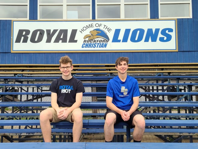 Rockford Christian Schools junior James Bradley, left, earned a perfect score on the ACT one year after Class of 2021 co-salutatorian Daniel Ingram earned a perfect score.