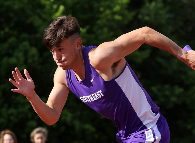 Southeast of Saline senior Luke Gleason is a member of the Trojans' top-ranked 1,600- and 3,200-meter relay teams that will compete Friday at the Class 3A state meet at Wichita State's Cessna Stadium.