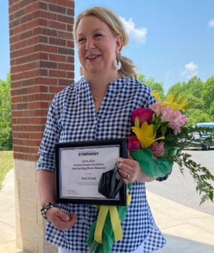 North Shelby's Sara Grant recently was awarded the 2020/21 Maxine Swalin Award for Outstanding Music Educator.
