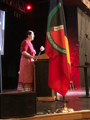Bay Mills Tribal Chairperson Whitney Gravelle served as emcee for the event.