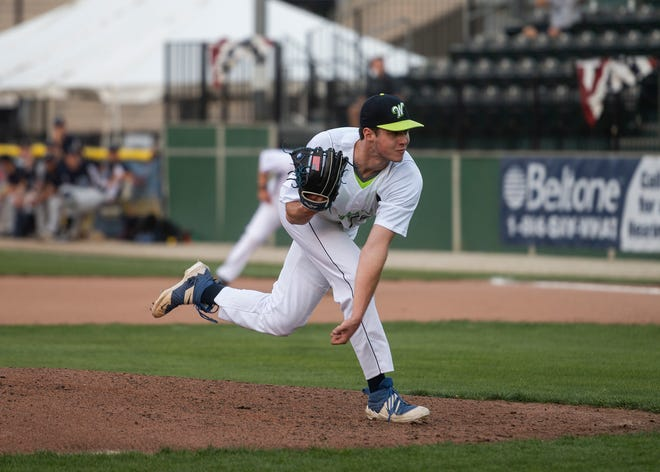 The Bravehearts' Jack Choate didn't allow an earned run in five innings Saturday night at Vermont, striking out nine.