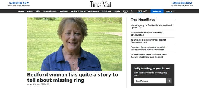 The new Times-Mail website.