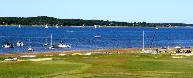 Brewster, along with Orleans, Harwich and Chatham, must meet nitrogen mitigation goals in Pleasant Bay, pictured. But Brewster doesn't have the expense of a sewering project and town officials wonder whether its participation in the Water Protection Fund is worthwhile.