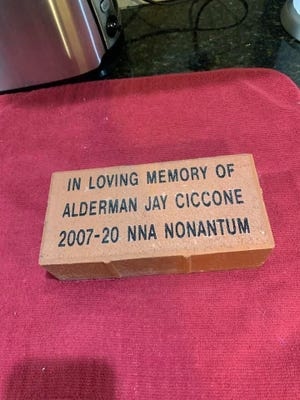 Nonantum Neighborhood Association will honor former Councilor Jay Ciccone with a ceremony at 1 p.m. June 6.