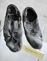 Also found at the Michigan Central train station a pair of women's shoes from the 1940's.